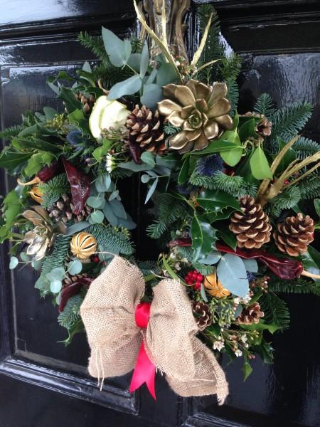 Fresh wreath Xmas workshop 2016