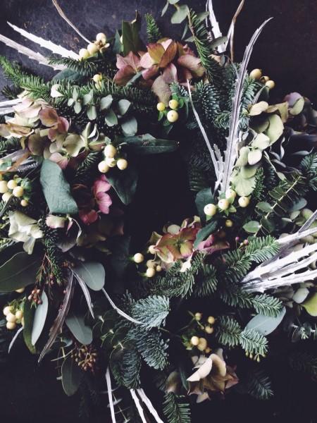Christmas wreath workshop, wiltshire