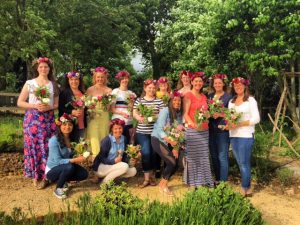 Flower crown workshop, Bradford on Avon