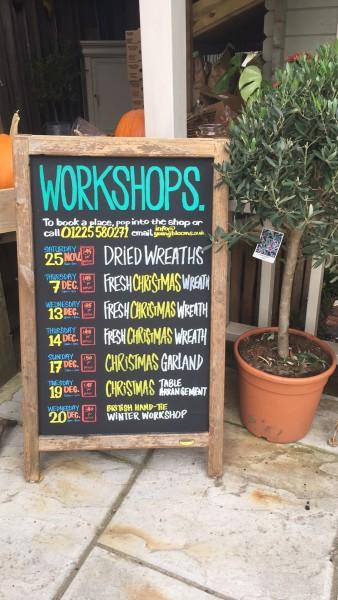 Christmas Wreath workshops, Bath