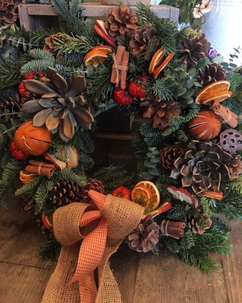 Fresh wreath Xmas workshop 2019