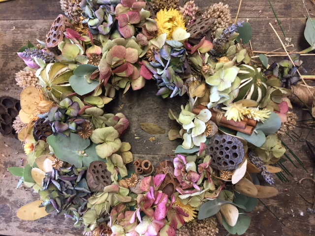 Bath, Christmas wreath workshop