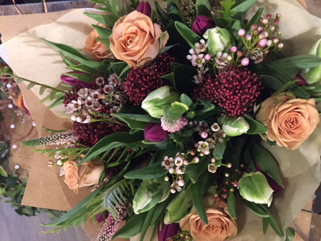 Christmas bouquet, wiltshire