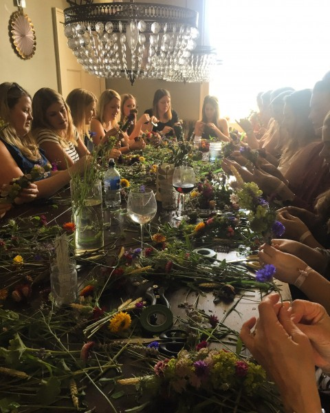 Flower-crown workshop, Bath