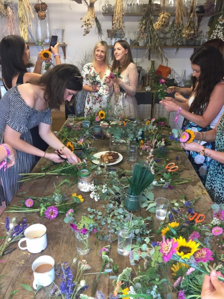 Flower workshop, bath