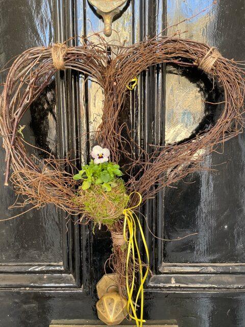 Spring door wreath